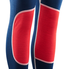 Aclima W's LightWool Reinforced Long Pants Insignia Blue/High Risk Red